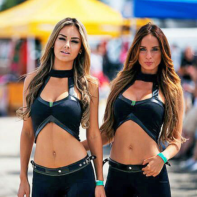 monster energy girls germany bensch media grid umbrella paddock girls monstergirls monsterenergy casting models babes hotties messebabes