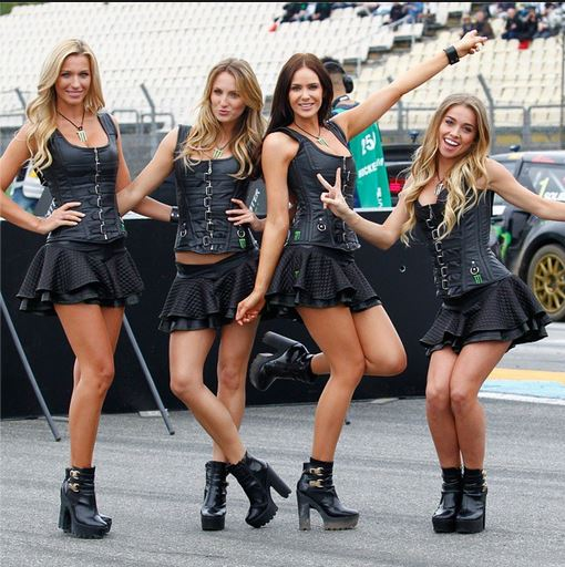 wcr monster energy girls woldrx rallycross