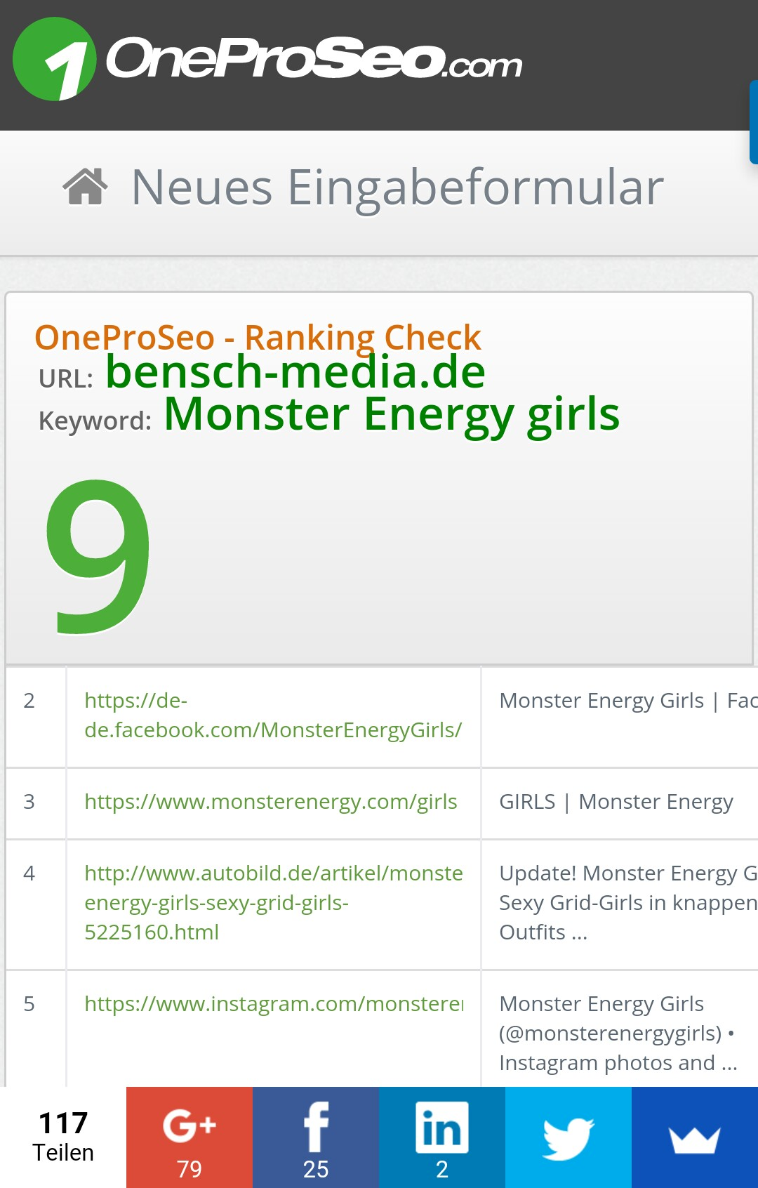 platz eins monster girl casting bensch media monstergirlsearch seo suchmaschinenoptimierung